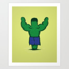 The Incredible Hulktus Art Print