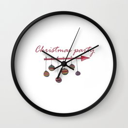 Christmas party sign Wall Clock
