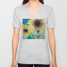 Supermassive Sunflowers Unisex V-Neck