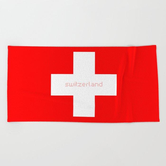 Swiss Cross Swiss Flag Beach Towel By Missbeli Society6