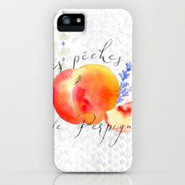 Les Pêches de Perpignan—French Country Peaches from Provence iPhone Case