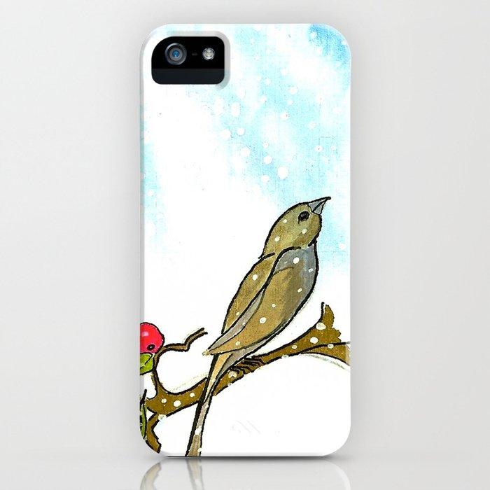Winter Cherry iPhone Case