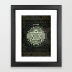 One Dollar Conspiracy Framed Art Print