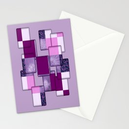 Purple Design Stationery Cards