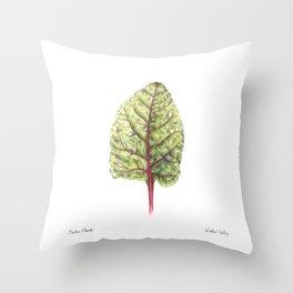 Swiss Chard Throw Pillow