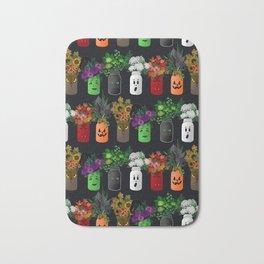 Halloween Mason Jar Bouquets Bath Mat