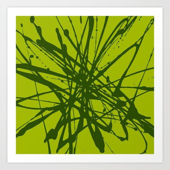 Bloom Green Art Print