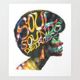 Soul Sounds Detroit Art Print