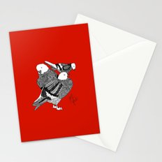 Red Pigeons Get Fat Stationery Cards