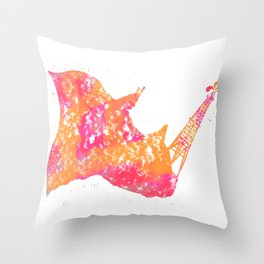 Diesel and Dust Throw Pillow