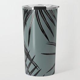 Black Palm Leaves Dream #4 #tropical #decor #art #society6 Travel Mug