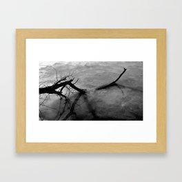 Moon Lake  Framed Art Print