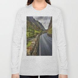 Llanberis Pass Winding Road Long Sleeve T-shirt