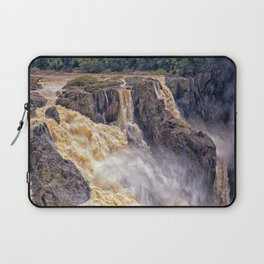 Powerful water going over the falls Laptop Sleeve
