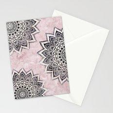 ROSE BOHO NIGHTS MANDALAS Stationery Cards