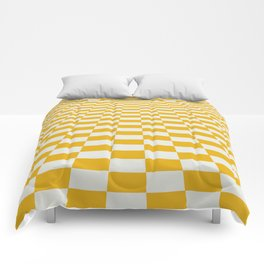 Yellow perspective pattern Comforters