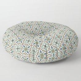 Spanish Tile Pattern – Andalusian ceramic from Seville Floor Pillow