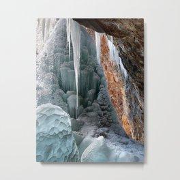 Behind Spouting Rock  Frozen Waterfall - Hanging Lake - Glenwood Canyon Colorado Metal Print