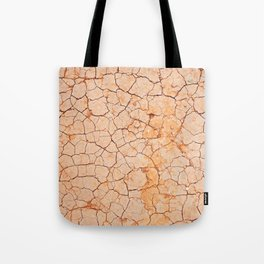 Cracked dry land pattern Tote Bag