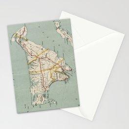 Vintage Map of Martha's Vineyard (1917) Stationery Cards