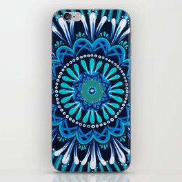 meditation in blue iPhone Skin