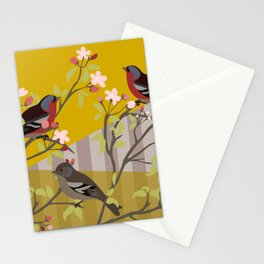 chaffinches in the cherry tree Stationery Cards