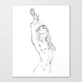 embrace your body - nude girl portrait Canvas Print