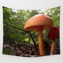 Two Mushrooms Wall Tapestry