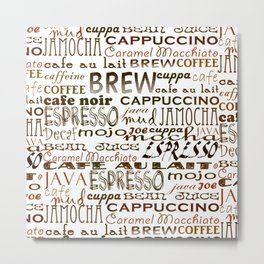 Coffee - In So Many Words Metal Print