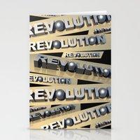 revolution Stationery Cards featuring Revolution by politics