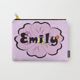 Emily with purple flower :) Carry-All Pouch
