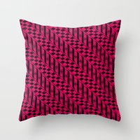 the strokes Throw Pillows featuring Strokes by Susan Marie