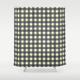 CHARCOAL CHECK Shower Curtain