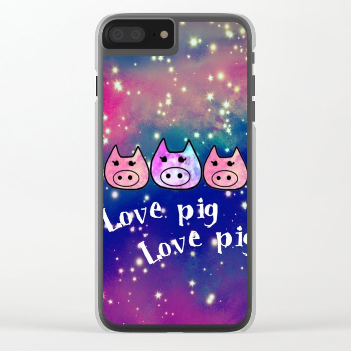 Pig-293 Clear iPhone Case