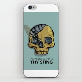 Death where is thy sting iPhone Skin