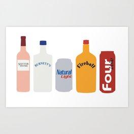 College Starter Pack Art Print