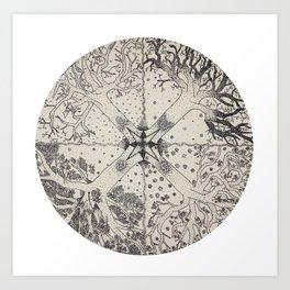 Rotating Seasons Art Print
