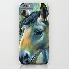 Horse in Blue iPhone 6s Slim Case