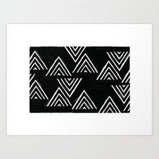 The Mountain Top - in Black Art Print
