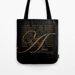 Sign Language for Aries Tote Bag