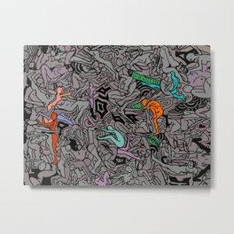Kamasutra LOVE Doodle - Retro Colors 1 Metal Print