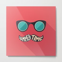 Hipster Summer Time Metal Print