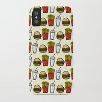 junk food iPhone & iPod Cases featuring Junk Food Pattern by mebzart