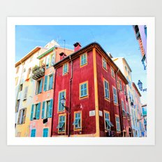 A Colorful Corner in Vieux Nice Art Print