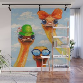Ostriches friends Wall Mural