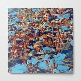 Field of Dreamer's Blue Blooms  Metal Print