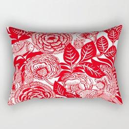 Between Strawberry Fields Rectangular Pillow