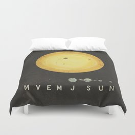 Planetary Arrangement Duvet Cover