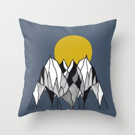 Over The Mountains - Drawing Throw Pillow