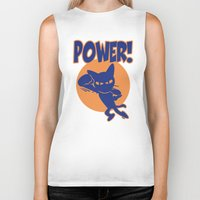 power Biker Tanks featuring Power! by BATKEI